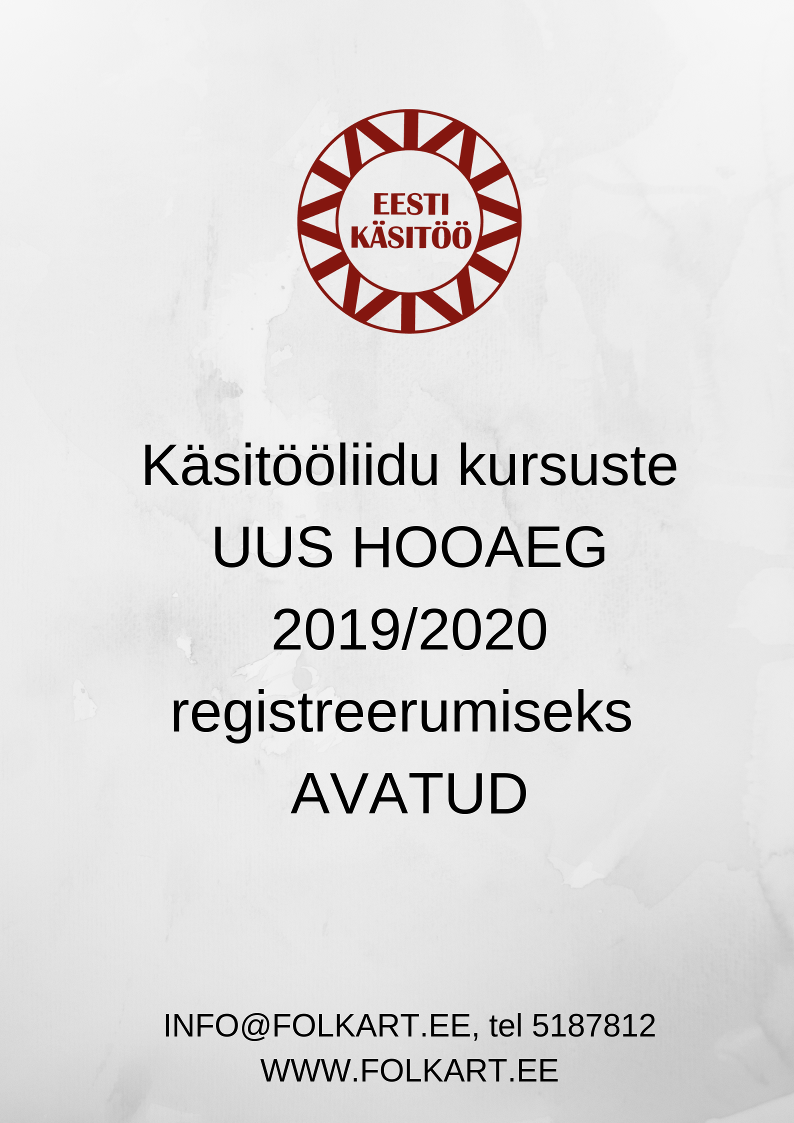 582d49d02b8 2019/2020 käsitööliidu kursuste UUS HOOAEG - Eesti Rahvakunsti ja Käsitöö  Liit